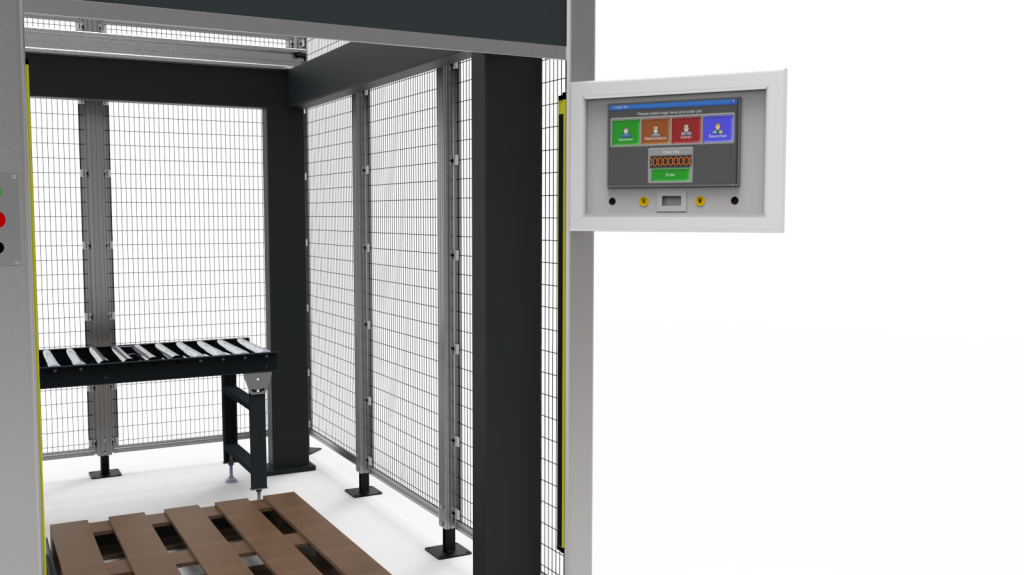 automated packing solution HMI screen